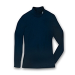 Mock Neck Long-Sleeve Shirt - Navy