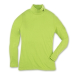 Mock Neck Long-Sleeve Shirt - Lime
