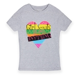 Girl Scouts Can Do Anything Grey Heart T-Shirt
