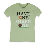 Have One Share One Cookie T Shirt - Misses Sizes