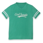 Teal Striped Sleeve Football Jersey T-Shirt