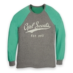 Green and Grey Long-Sleeve Baseball Shirt