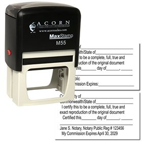 Self Inking Certified Copy Stamp
