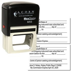 Self Inking Jurat Notary Stamp