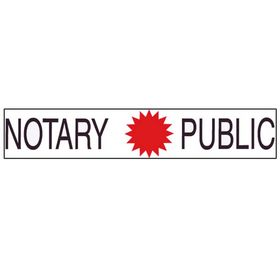Two Color Notary Public Sign