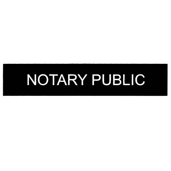 engraved notary public sign
