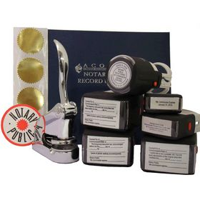 Supreme Chrome Notary Seal Package with S/I Stamps