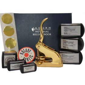 Supreme Gold Notary Seal Package with Slim Stamps
