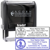 Self Inking State Seal Notary Stamp
