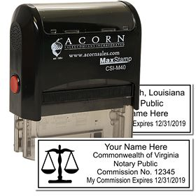 Self Inking Notary Scales of Justice