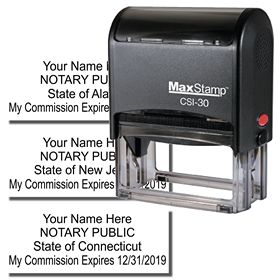 Self Inking Name and Expiration Stamp