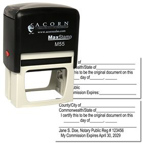 Self Inking Original Document Stamp