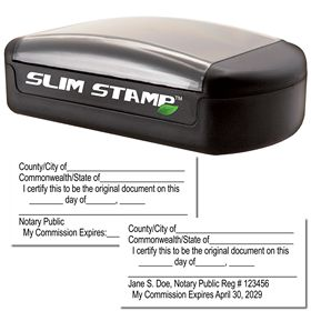 Slim Pre-Inked Original Document Stamp