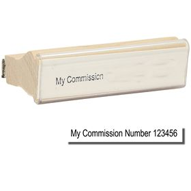 Regular Commission Number Stamp