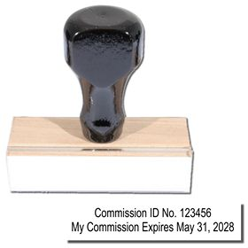 Regular Commssion Number and Expiration Stamp