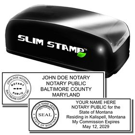 Slim Pre Inked Combination Stamp