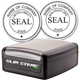 Slim Pre-Inked Corporate Seal Stamp