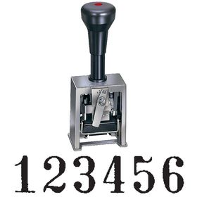 6 Wheel Self Inking Automatic Numbering Machine Model 732