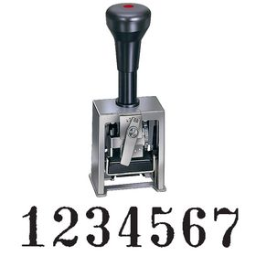 6 Wheel Hand Auto Numbering Stamp Model 732-7