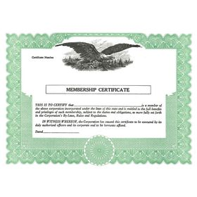 Short Form Membership Certificate