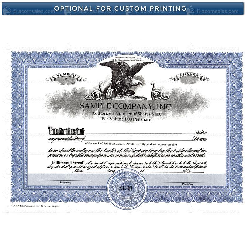 Form Of Stock Certificate Solidpion