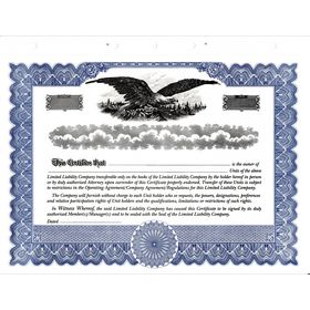 Blue Short Form LLC Certificate