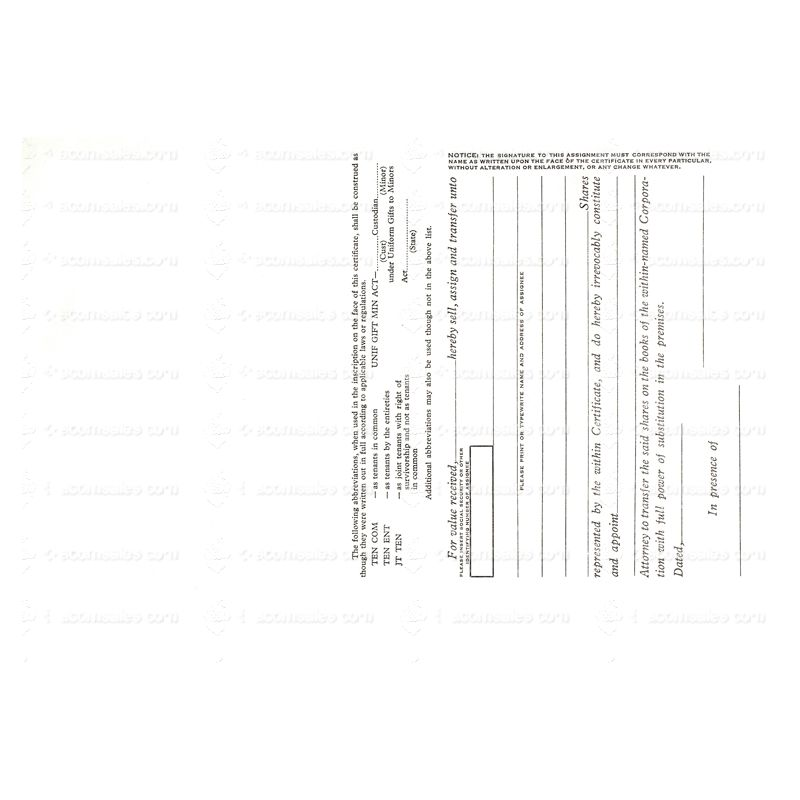 Short Form Orange Stock Certificate   Acorn Sales Supplies