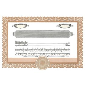 Short Form Brown Stock Certificate