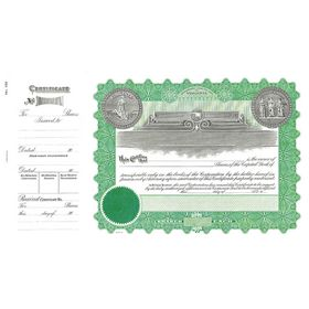 Virginia Stock Certificate - Goes 156