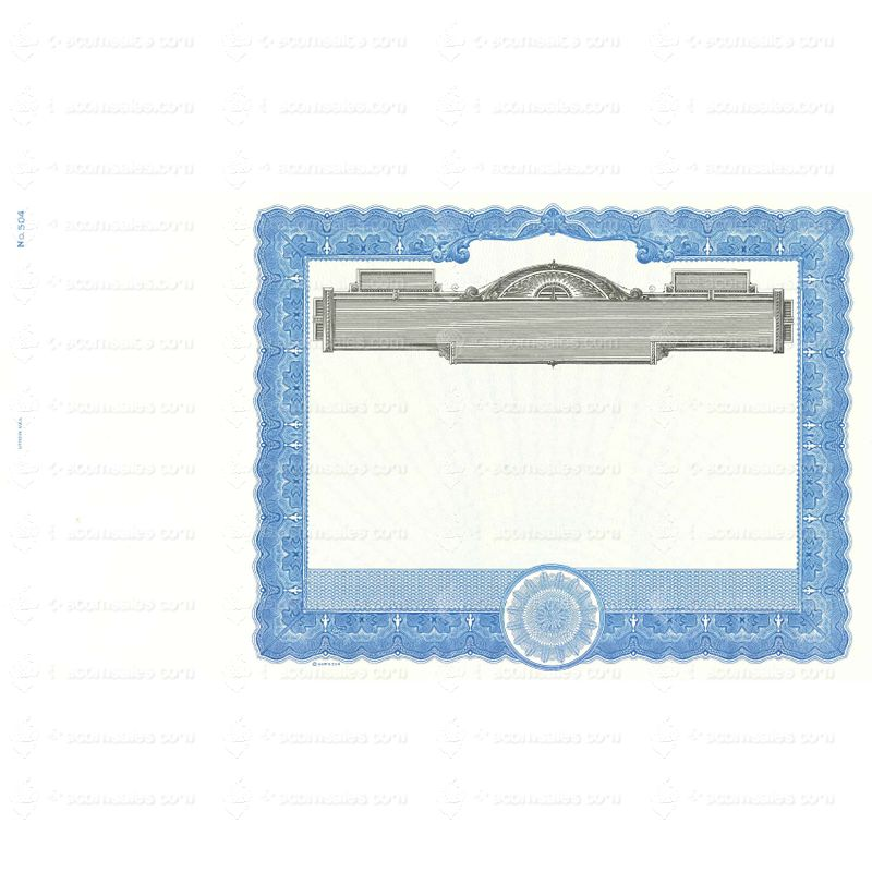 Goes 504 Blank Stock Certificate Buy Certificate Form