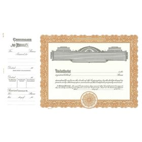 Goes 721 Corporate Stock Certificate Form