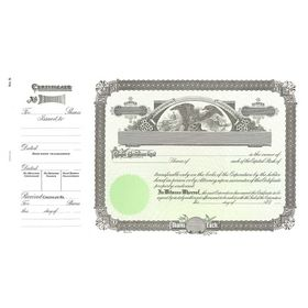 Goes 9 Stock Certificate