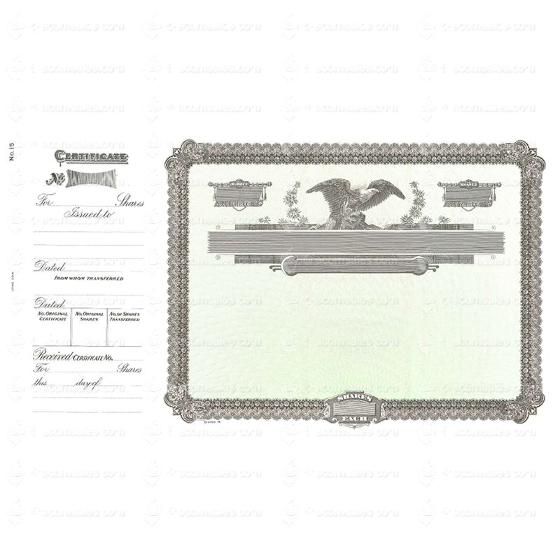 Buy Goes Certificates | Goes 15 Blank Stock Certificate