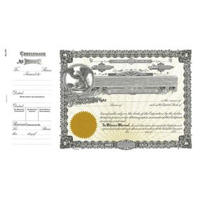 Goes 50 Corporation Stock Certificate