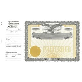 Goes 70 Preferred Stock Certificate Form