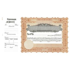 Goes 132 Corporate Stock Certificate Form
