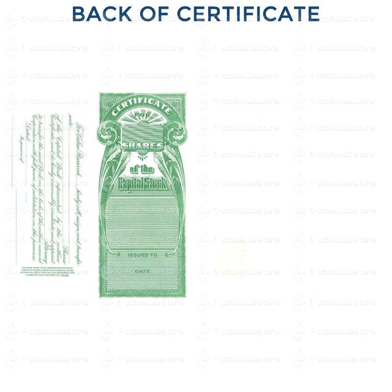 Buy Stock Certificate Goes 214 Stock Certificate Online
