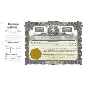Goes 265 Texas Stock Certificate