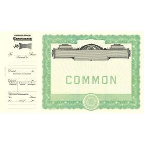 Goes 501 Common Stock Certificate