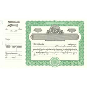 Goes 514 Stock Certificate Form