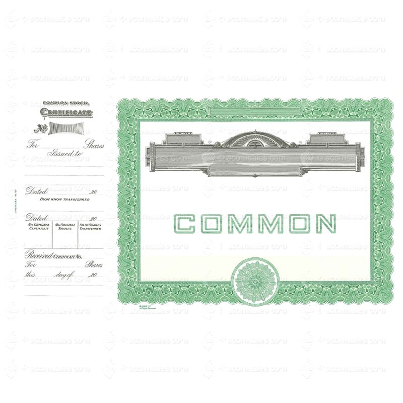 Long Form Blank Certificate Goes Common Stock - Common stock certificate template