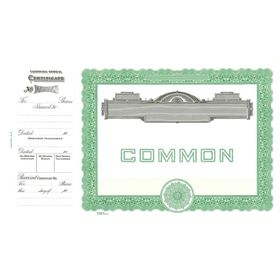 Goes 727 Common Stock Certificate Form