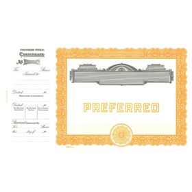 Goes 729 Preferred Stock Certificate