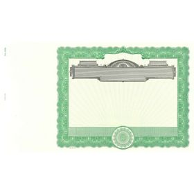 Goes 506 Blank Stock Certificate Paper