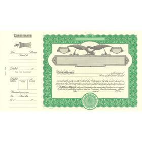 Goes 509 Corporate Stock Certificate Form