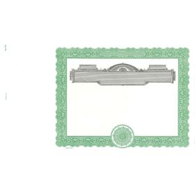 Goes 732 Blank Stock Certificate