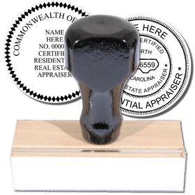 Real Estate Appraiser Regular Rubber Stamp of Seal