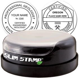 Engineering Geologist Slim Pre-Inked Rubber Stamp of Seal