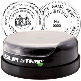 Forester Slim Pre-Inked Rubber Stamp of Seal