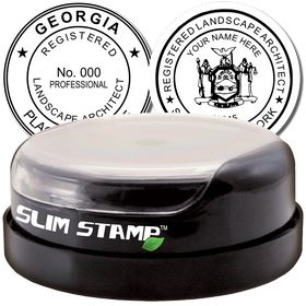 Landscape Architect Slim Pre-Inked Rubber Stamp of Seal